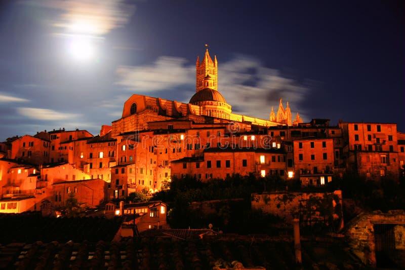 Siena night scene stock photo