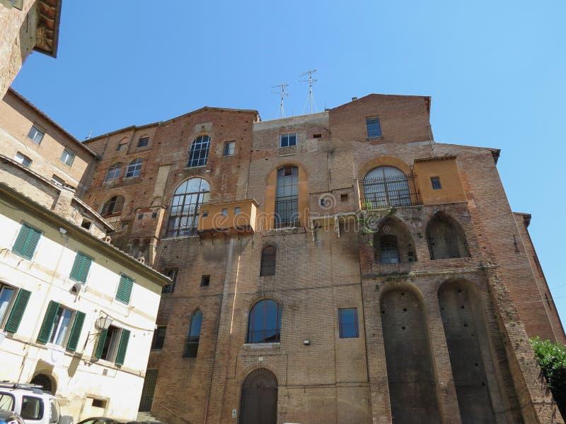 Siena Ospedale di Santa Maria della Scala royaltyfri fotografi