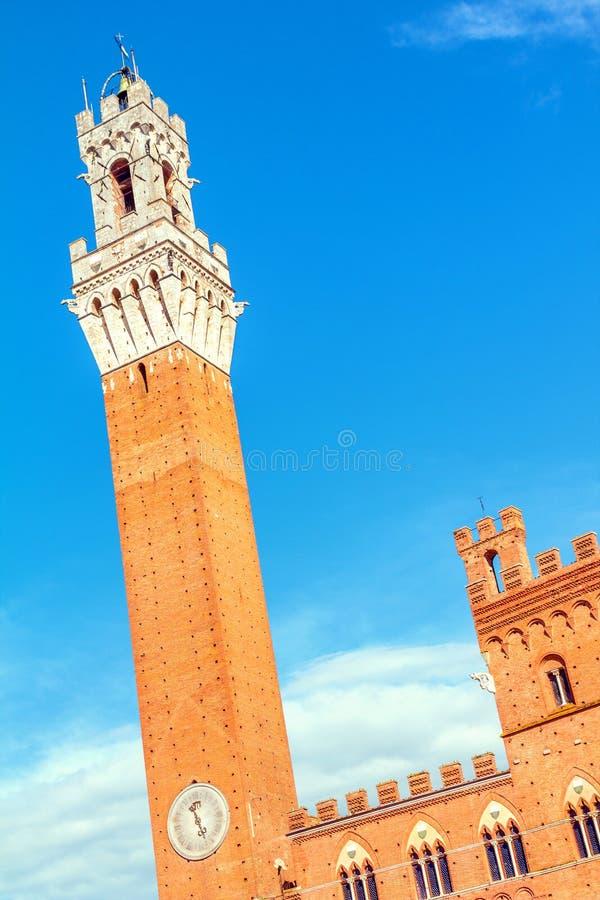 Siena, Palazzo Pubblico, Włochy fotografia royalty free