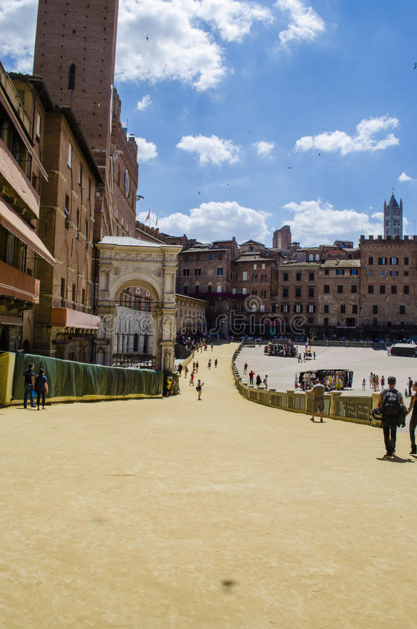 Siena Palio Tuscany vor dem Rennen lizenzfreie stockbilder
