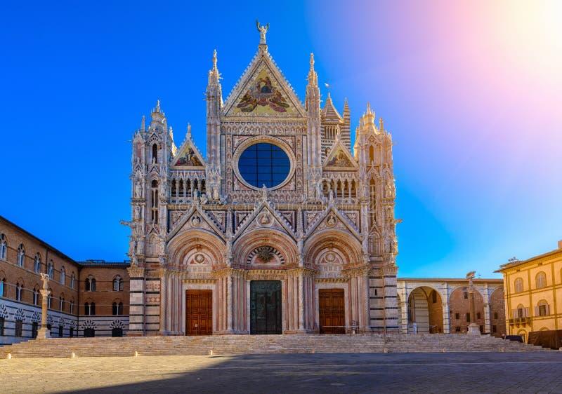 Siena Santa Maria Assunta Duomo Katedralni di Siena w Siena obraz stock