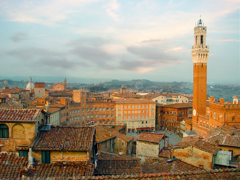 Siena Skyline. stock photo