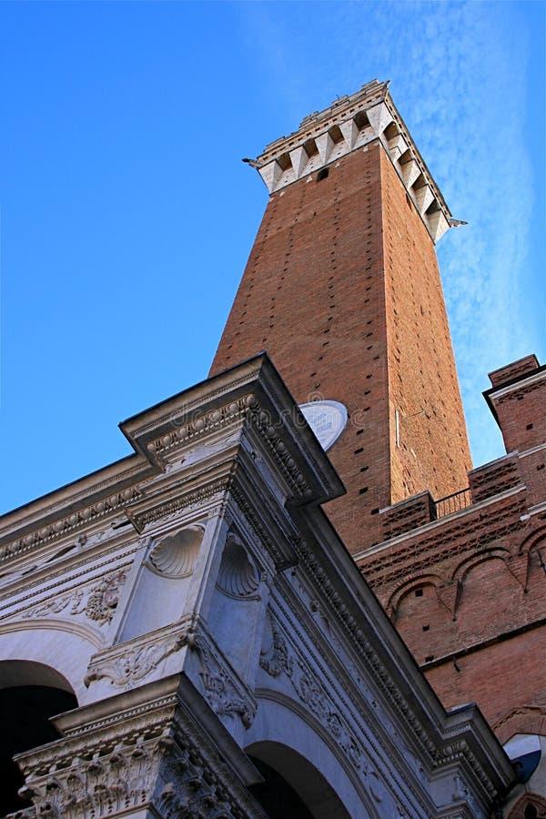 Siena Toren stock fotografie