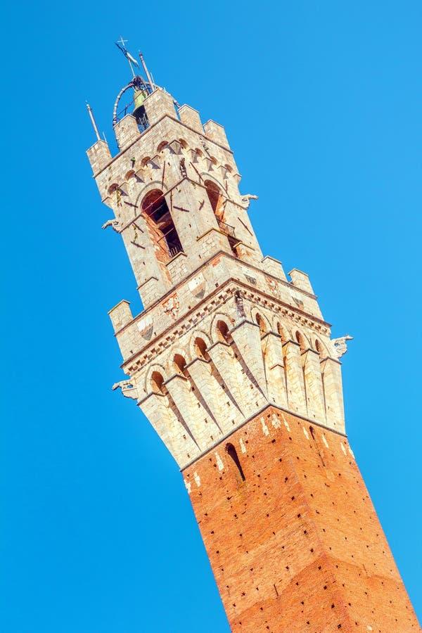 Siena, Torre del Mangia, Italia fotos de archivo