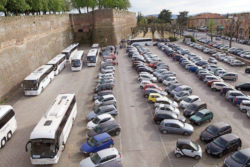 Siena, Toscanië, Italië stock foto's