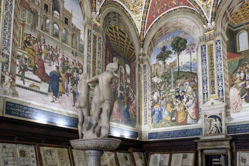 Siena tuscany italy europe inside cathedral royalty free stock photos