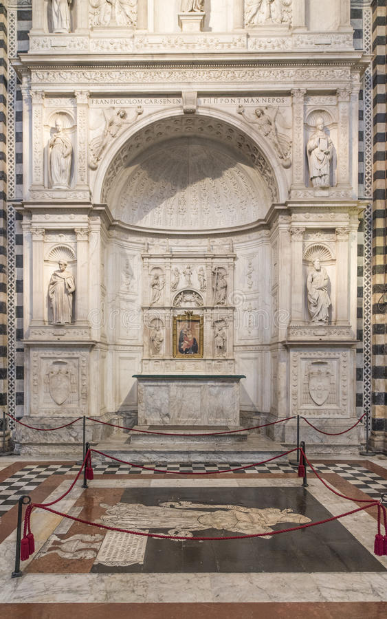 Siena tuscany italy europe interior of the cathedral stock photography