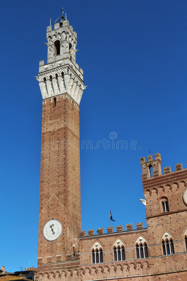 Siena, Tuscany, Italy. Famous tourism places of the city royalty free stock image