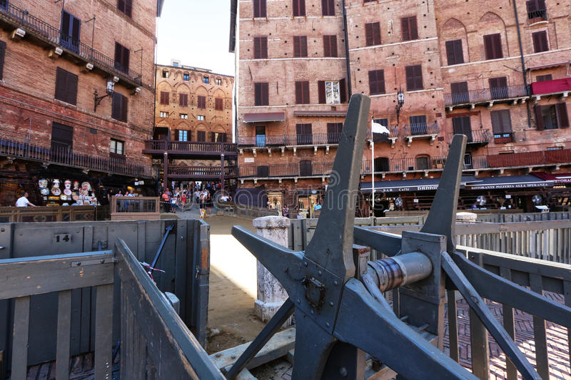 Siena, Tuscany, Italy. Famous tourism places of the city royalty free stock photos