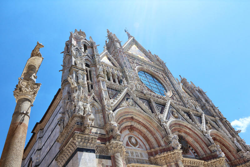 Siena, Tuscany, Italy. Famous tourism places of the city royalty free stock images