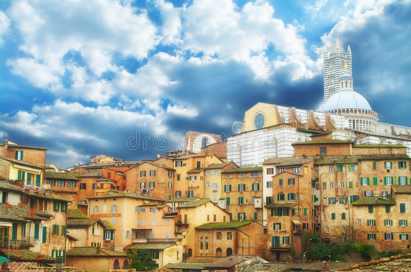 Siena, Tuscany. View of the historic city of Siena in Tuscany, Italy stock photography