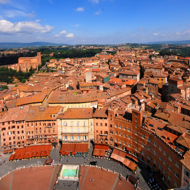 Siena, vista aerea immagini stock