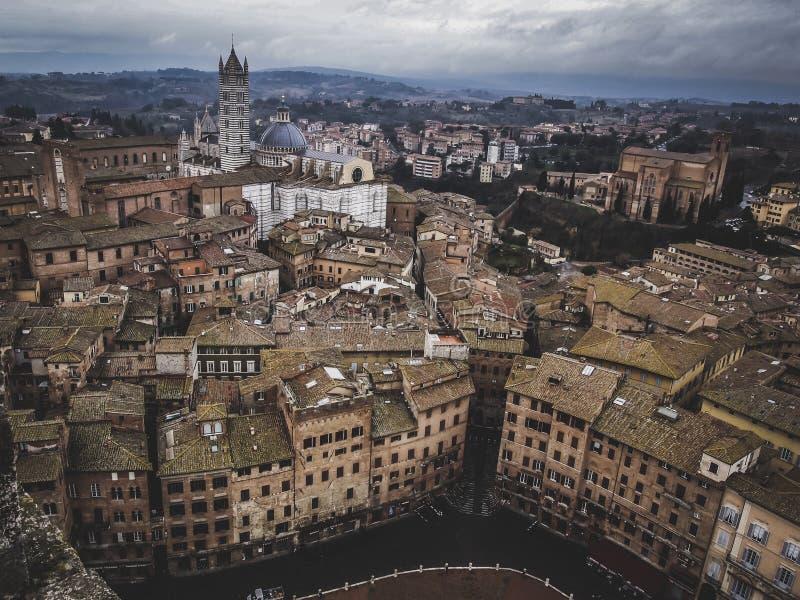 Siena w zimie zdjęcie royalty free