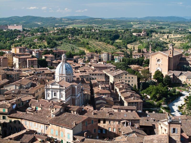 Siena y Toscana imagenes de archivo