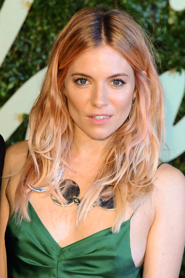 Sienna Miller. Arrives for the British Fashion Awards 2013 at the Colliseum, St.Martin's Lane, London. 02/12/2013 Picture by: Steve Vas / Featureflash royalty free stock images
