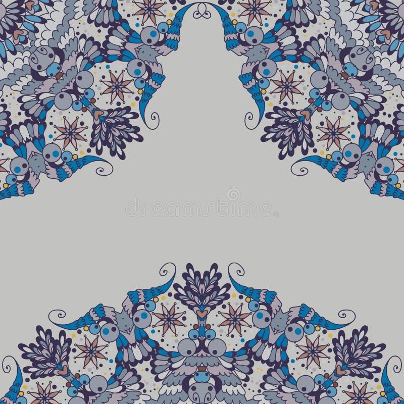 Sier abstract patroon in hoeken royalty-vrije illustratie