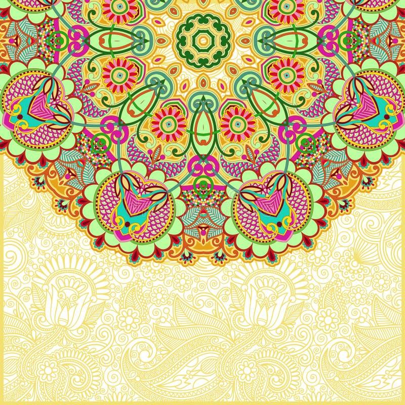 Sier abstracte cirkel bloemenachtergrond vector illustratie