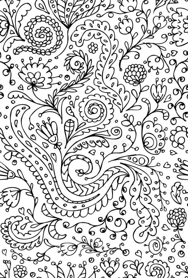 Sier bloemen naadloos patroon voor uw ontwerp stock illustratie