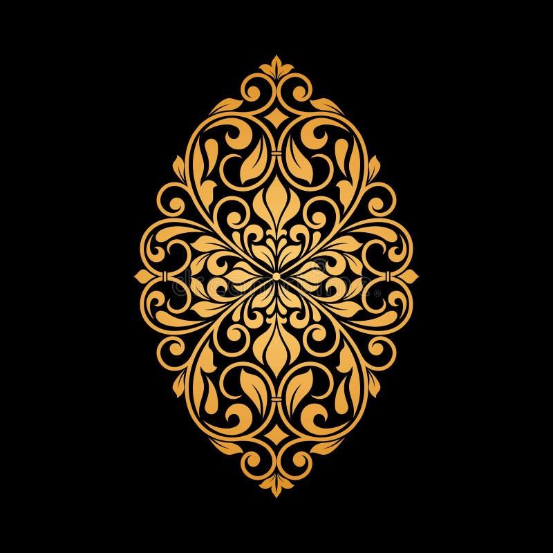 Sier bloemenelement voor ontwerp vector illustratie