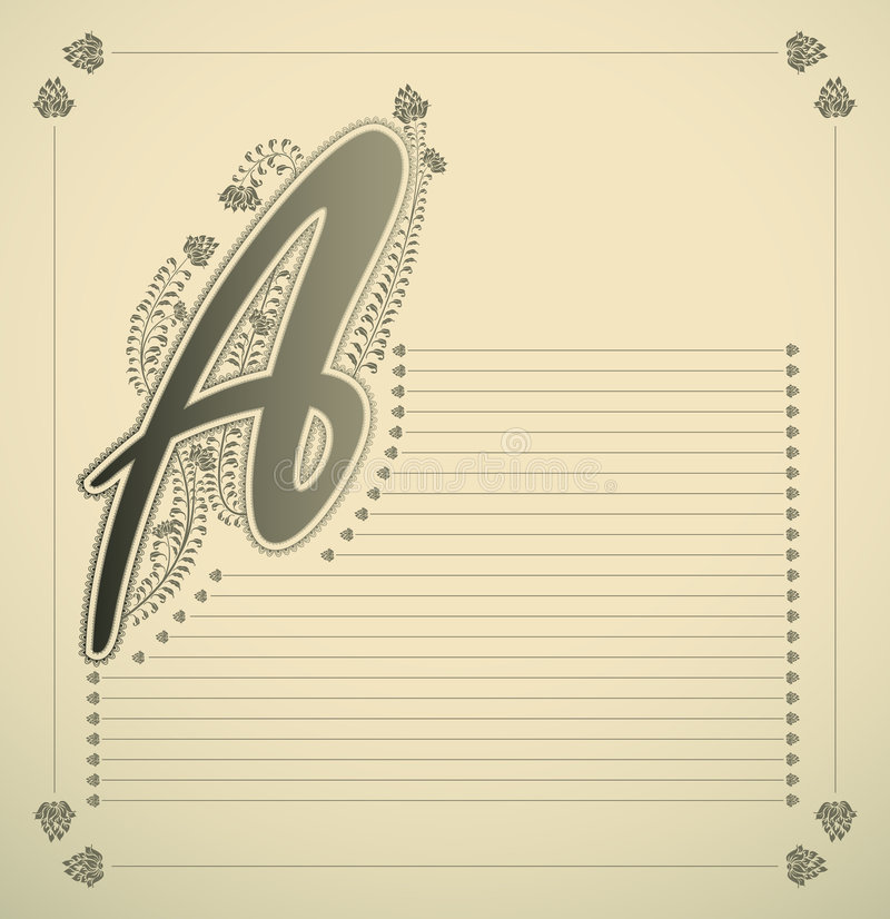 Sier brief - A vector illustratie
