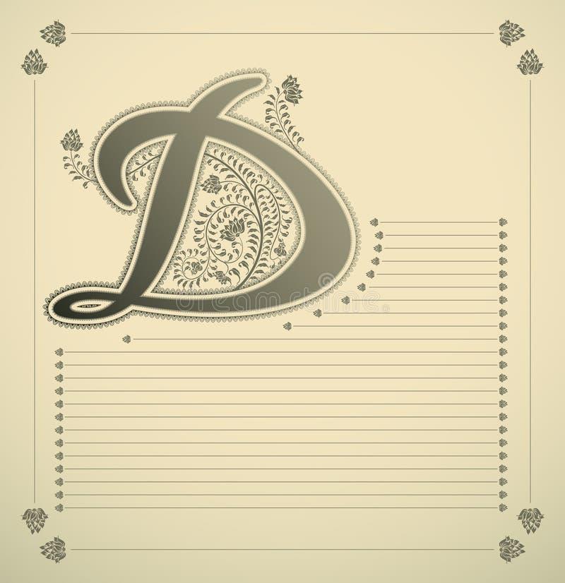 Sier brief - D vector illustratie
