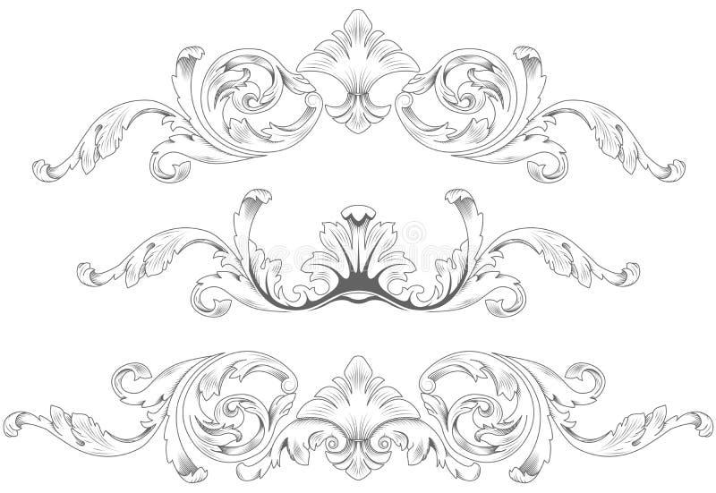 Sier elementen royalty-vrije illustratie