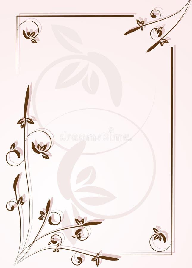 Sier frame voor brief stock illustratie