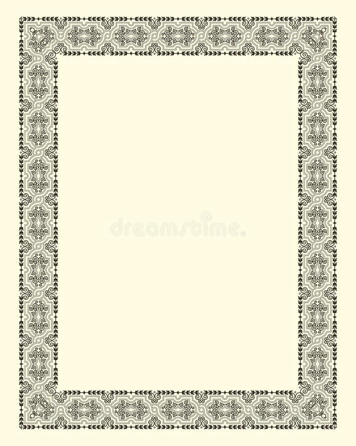 Sier frame wijnoogst stock illustratie