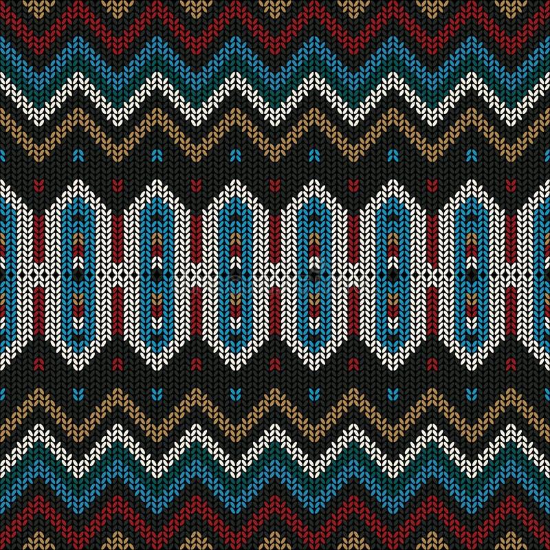 Sier gebreid patroon vector illustratie