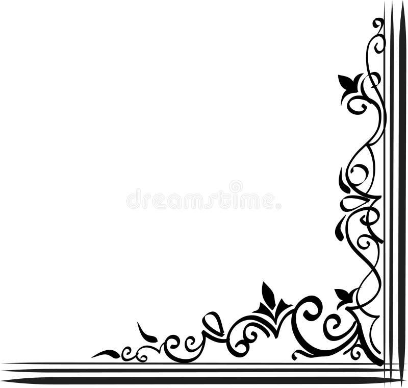 Sier grens vector illustratie