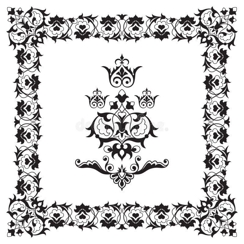 Sier grensframe ontwerpelement royalty-vrije illustratie