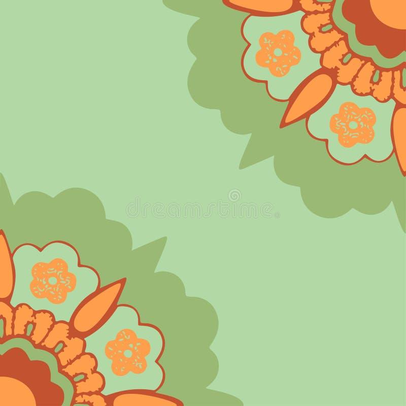 Sier het silhouetpatroon van hoekenbloemen, kleurrijke hoekbloemen geïsoleerde achtergrond stock illustratie