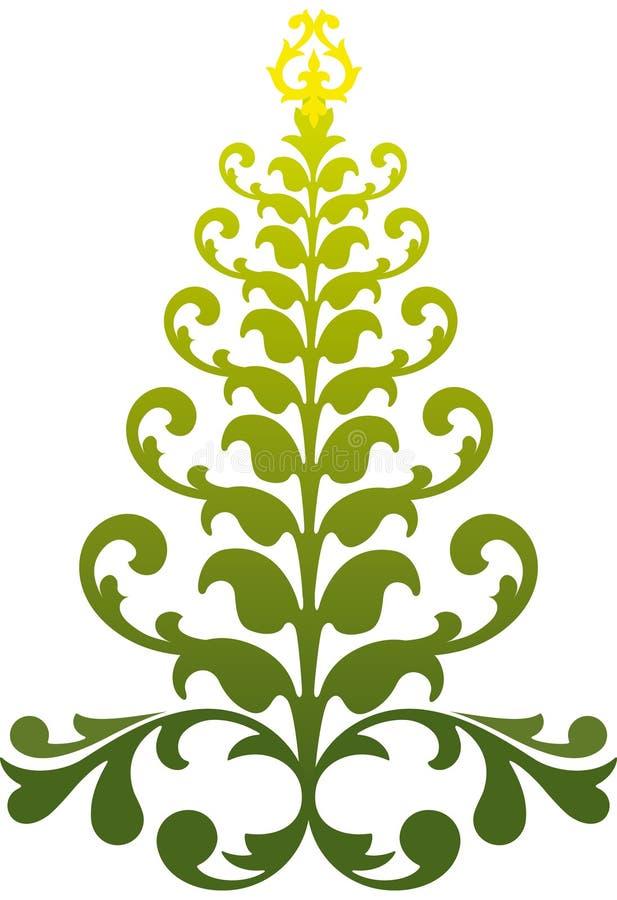 Sier Kerstmisboom vector illustratie