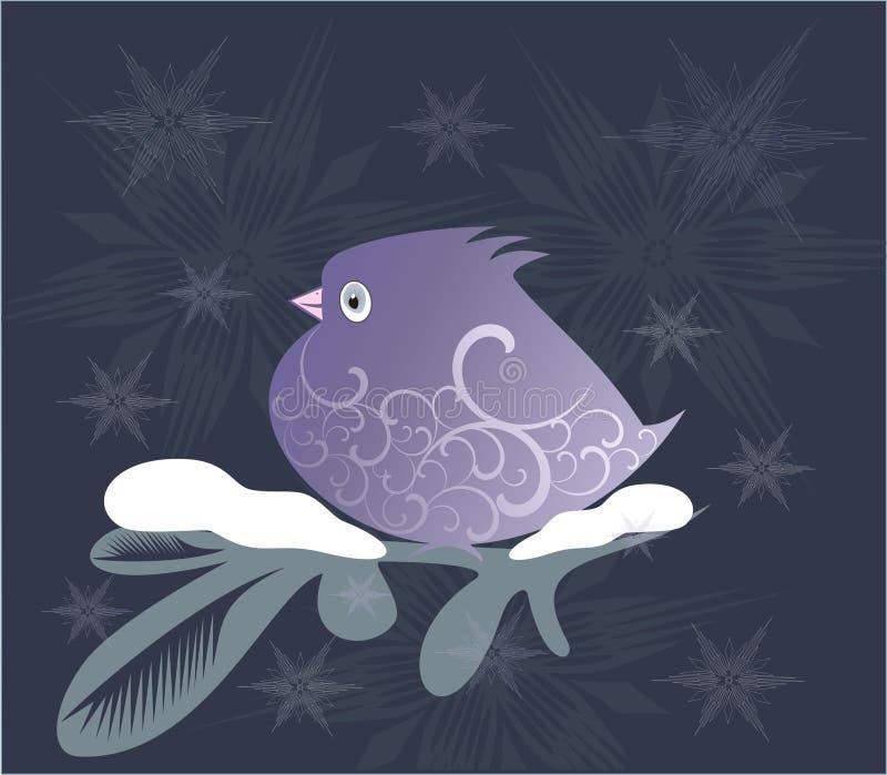 Sier lilac vogel royalty-vrije illustratie