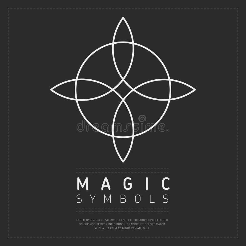 Sier lineair magisch symbool vector illustratie