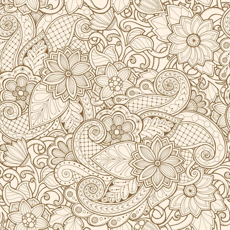 Sier naadloos etnisch patroon Voor behang, vult het patroon, textiel, stof, het verpakken, oppervlaktetexturen voor ontwerp royalty-vrije illustratie