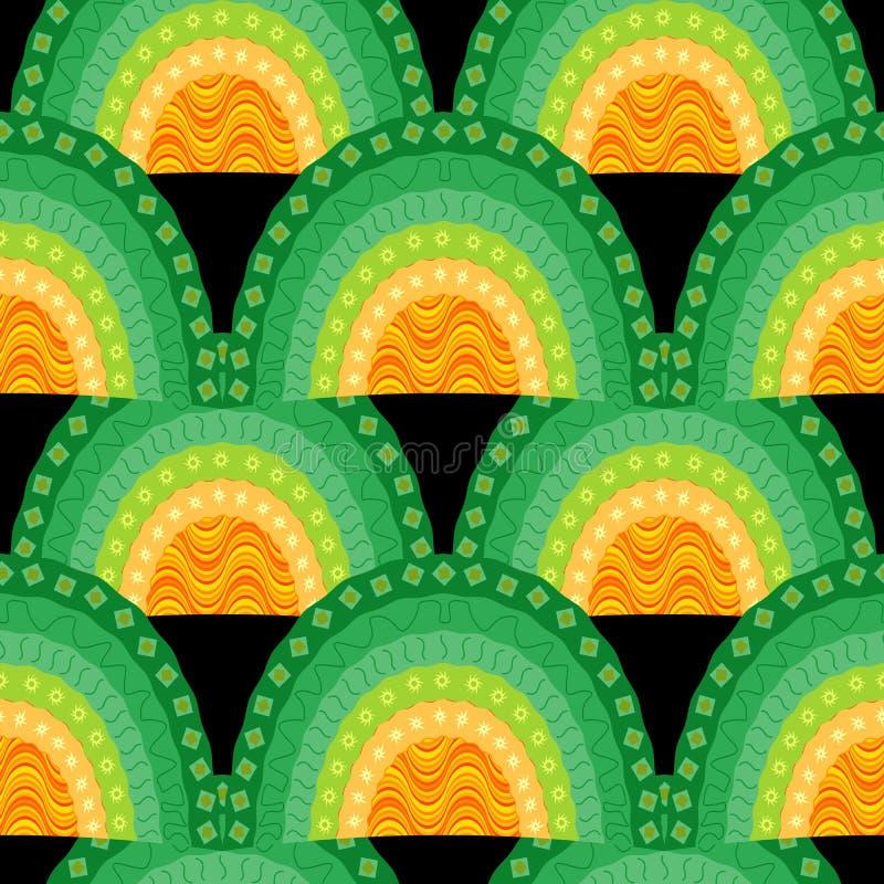Sier naadloos golvenpatroon vector illustratie