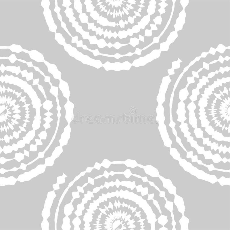 Sier naadloos patroon De abstracte achtergrond kan voor behang, website, textiel, drukken, stof, verpakkend document worden gebru stock illustratie