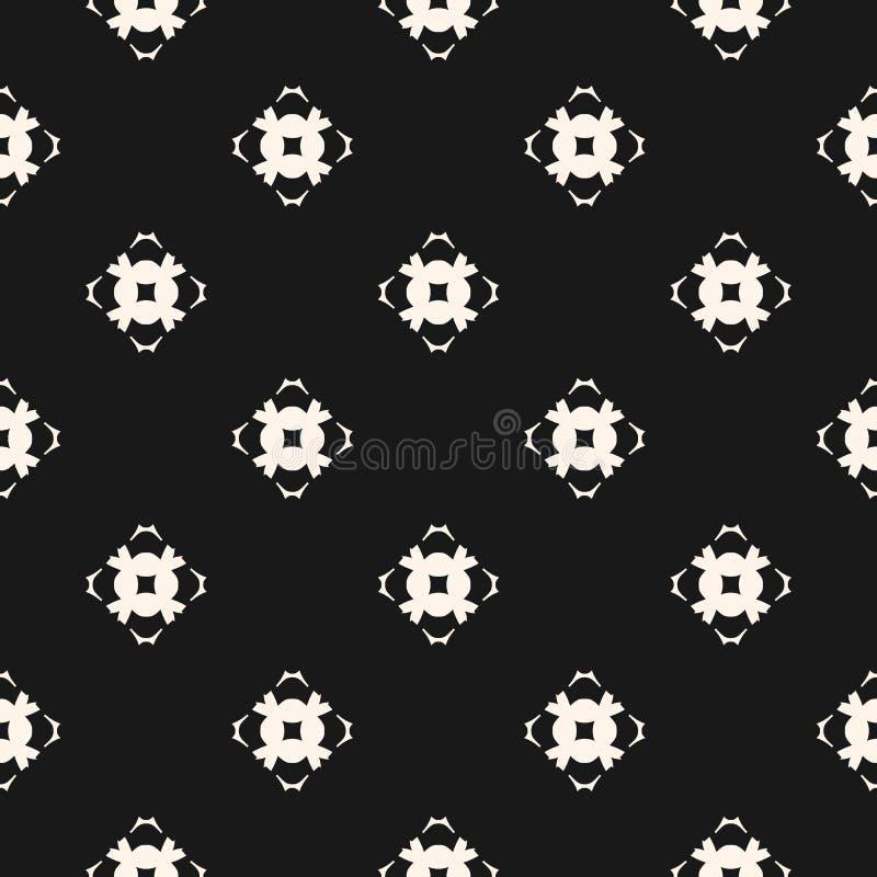 Sier naadloos patroon met gesneden bloemenvormen, mozaïekelementen stock illustratie