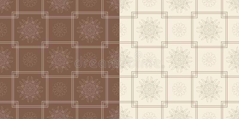 Sier naadloos patroon met traditioneel royalty-vrije illustratie