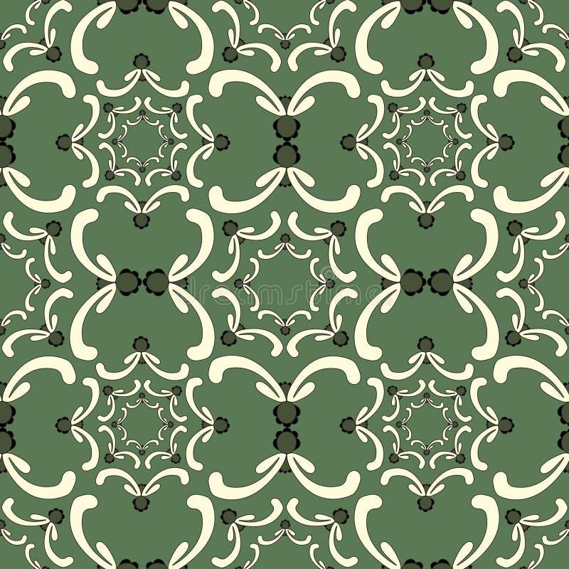 Sier naadloos patroon Uitstekend malplaatje Krommeelementen royalty-vrije illustratie