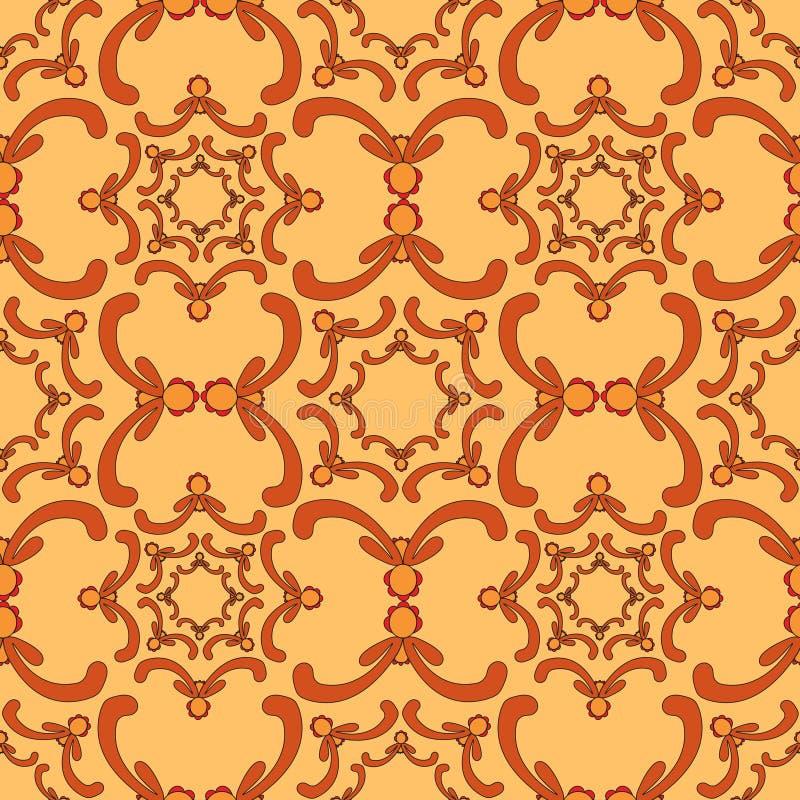 Sier naadloos patroon Uitstekend malplaatje Krommeelementen vector illustratie