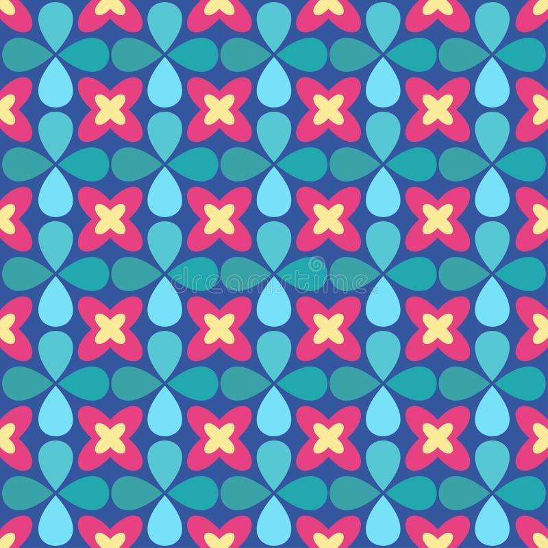 Sier naadloos patroon Vector bloemenachtergrond vector illustratie