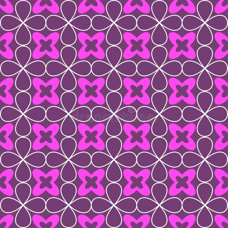 Sier naadloos patroon Vector bloemenachtergrond royalty-vrije illustratie