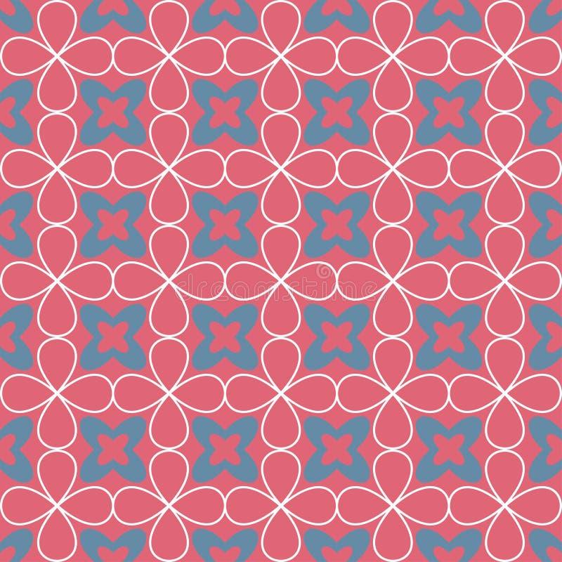 Sier naadloos patroon Vector bloemenachtergrond stock illustratie