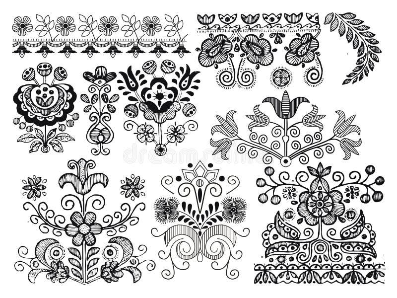 Sier ontwerpelementen vector illustratie