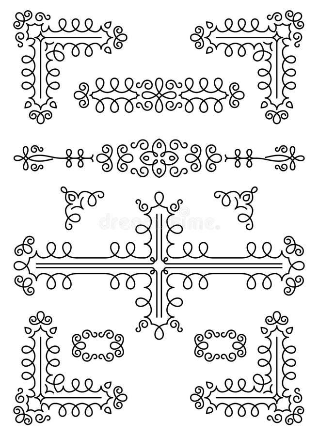 Sier paginadecoratie stock illustratie