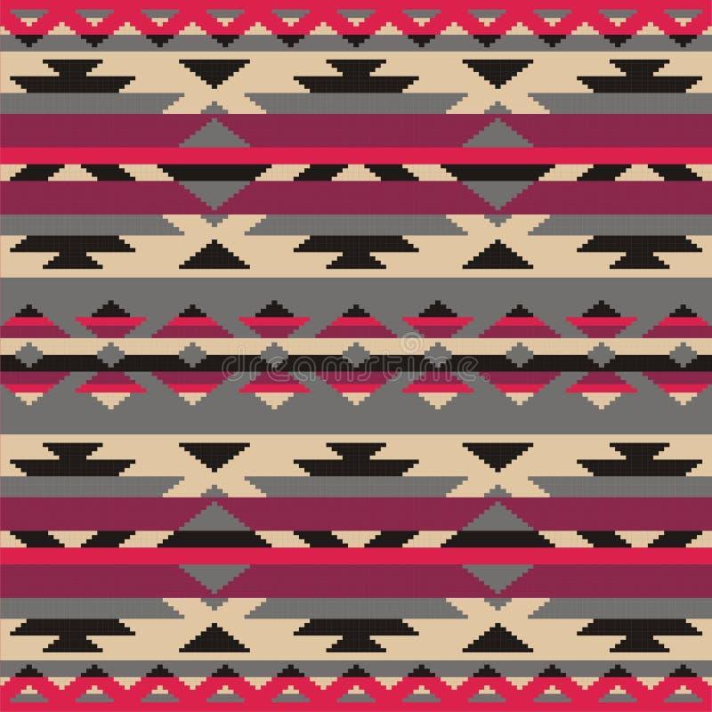 Sier patroon voor het breien en borduurwerk Indianen, Navajo, stammen, etnische stof royalty-vrije illustratie