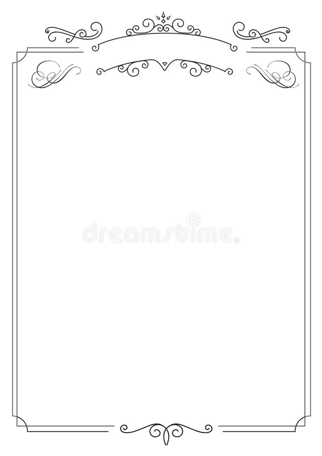 Sier retro elegante grens en witte achtergrond stock illustratie