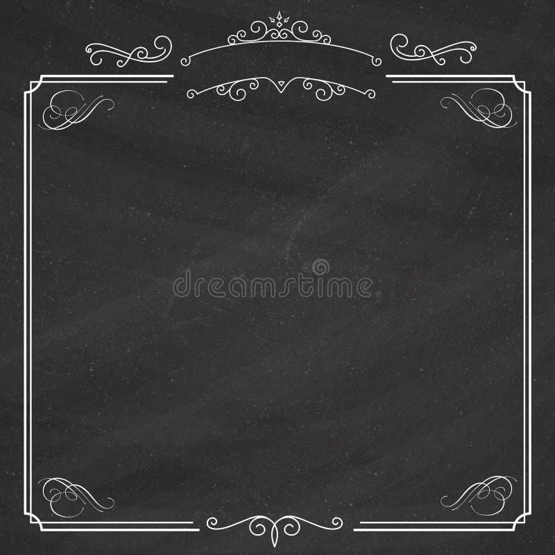 Sier retro elegante zwarte grens en wit album backgroun vector illustratie
